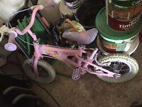 Bike - girls - Disney Princesses - pink
