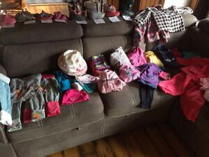 Lot fille 12 mois à 5 ans hiver 30$