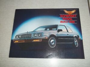 BROCHURE AUTO BUICK SOMERSET/REGAL 1985