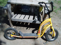 Very Good Condition: 2 Wheel Scooter, Hand Brake, Rubber Tires