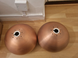 Rose gold celling lamp shades X2 (collection from E9)