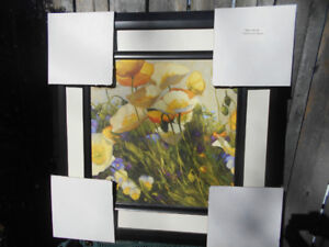 Beautiful Floral Picture in Frame, Brand New