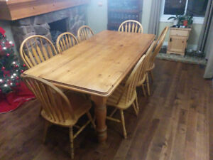 Dining Table and chairs - Solid wood. Seats eight