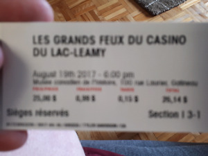 Les Grands Feux tickets