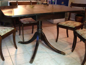 Duncan Phyffe Drop Leaf Dining Table & Chairs