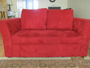 RED sofa and love seat  200$ for the pair!
