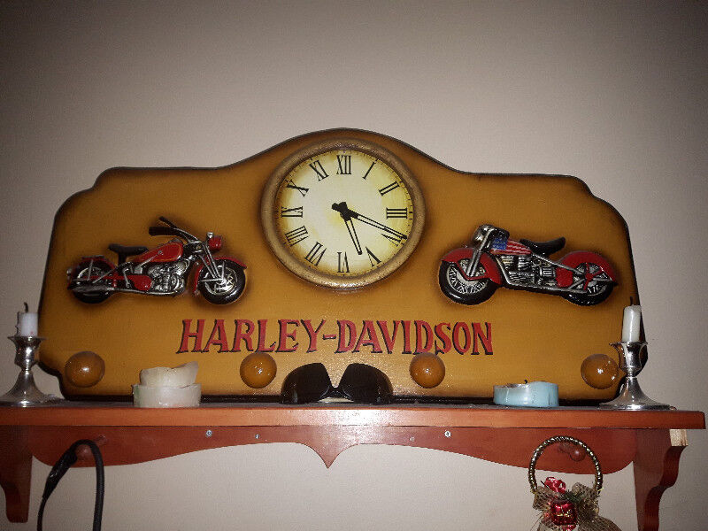 Harley Davidson Clock And Coat Rack Arts Collectibles Delectable Harley Davidson Coat Rack