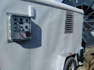 Construction Propane Heater in Trailer