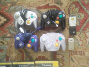 Game cube controllers and memory cards
