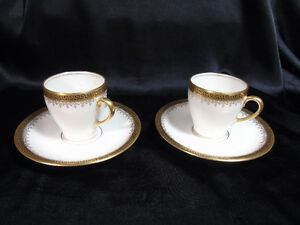 Limoges pair Cappuccino Cups/Saucers