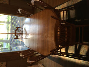 Solid Maple Table, Chairs &Hutch