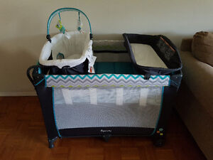 BRAND NEW Ingenuity playpen with bassinet and change area