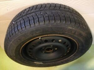 4 used 215-60R16 X-ice3 Michelin winter tires on rims