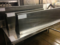 commercial stainless steel wall shelves