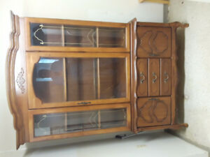 Free Solid Wood China cabinet w/ Hutch