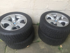 BMW 5-series Winter Tire Package on OEM Alloy Rims