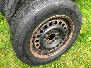 Michelin Primacy Winter Tires P205/65/15 On Steel Rims
