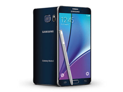 Samsung Galaxy Note 5 SM-N920P - 32GB - Black (Sprint) 7/10 Screen...