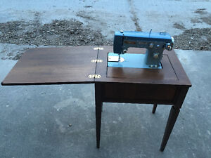 Imperial Sewing Machine built in to desk/cabinet