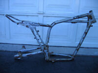 For sale vintage dirt bike parts exhausts frames suspension etc