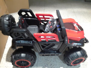 Kids ride on 12v Jeep with parental remote $440