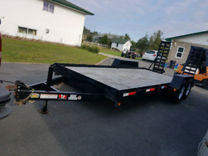 JDJ 12000lbs equipment trailer with dove tail