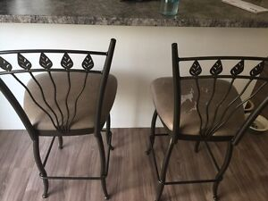 Set of Two Counter Height Stools Kingston Kingston Area image 1