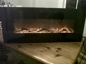 AMANTII Electric Fireplace With Heater, Like New ONLY $400.