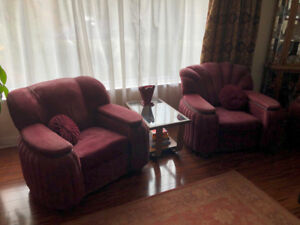 Full set Vintage Sofa and Two Arm Chairs