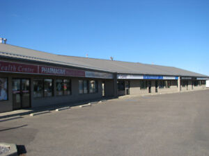 Bay for lease in strip mall