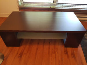 TV table with middle shelf - Beautiful and Solid