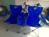 2 seater folding camping chairs