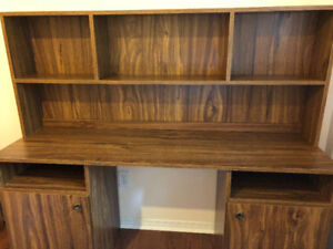 Two Piece wooden Student Desk and Shelf