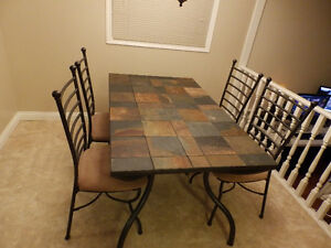 Kitchen table + 4 chairs (mosaic tiles)