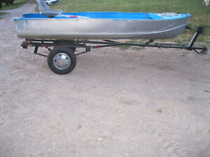 14 ft Aluminum Boat With Trailer