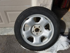 225/55/R17 Michelin X-Ice XI3 winter tires 4 sale on rims.