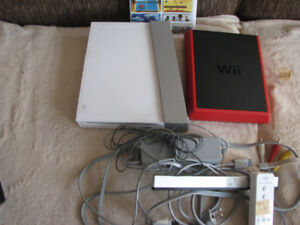 Wii console  all wires