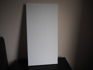 "1ft x 2ft x 3/4"" White Painting Canvas"