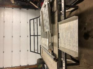 Aluminum sled deck, superclamps
