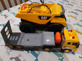 Toy construction vehicles lights & sound