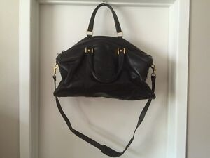 Black Leather Duffel Bag London Ontario image 1
