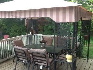 Gazebo and patio set