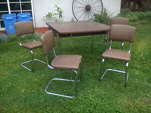 retro chrome table buy or sell dining table sets in ontario