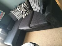 DFS black&grey corner sofa