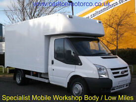 2009/09 Ford Transit 115 T350m Luton Box van [ Mobile Workshop ] Low miles DRW
