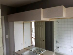 Armoire de salle de bain avec lumière encastrer et mirroir