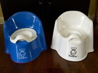 Baby Bjorn Potty Chairs Blue and White