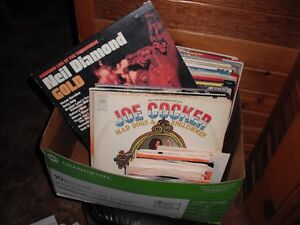 Vinyl Records Long Plays and 45s and about 100 cassettes