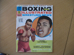 Cassius Clay Poster No 32 Boxing Illustrated Mai 1965 (Y984)