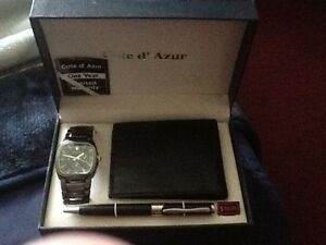 Côte d'Azur Watch,wallet, pen set brand new OBA Windsor Region Ontario image 1